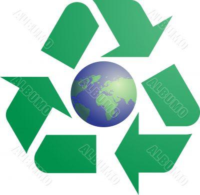 Recycling eco symbol
