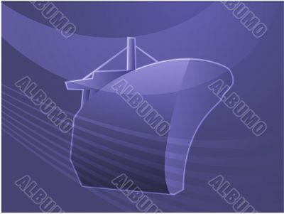 Ship naval transport illustration