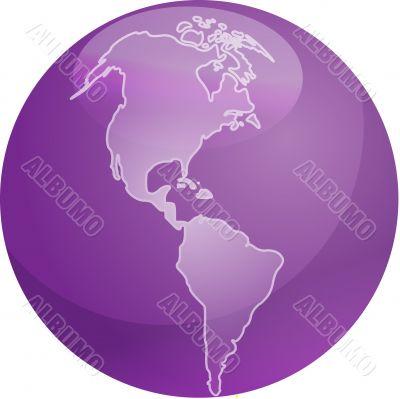 Map of Americas sphere
