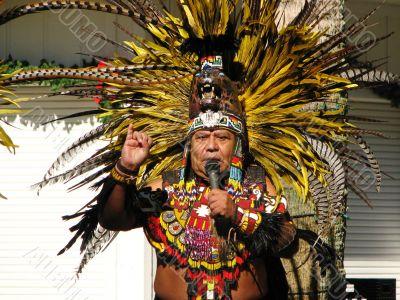 Aztec Tribal Elder Counting