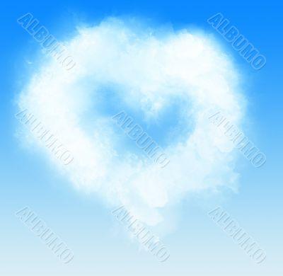 Cloud as heart