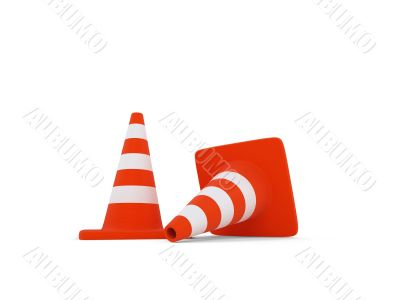 traffic sign object over white