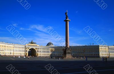 Alexander Column and Palace Square, St Petersburg, Russia