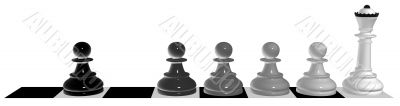 Evolution of a pawn