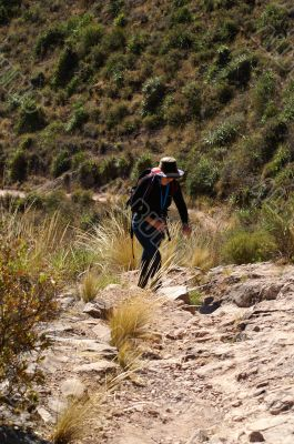 Walking in Andes