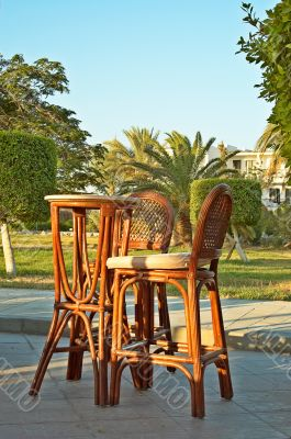 Furniture in resort.