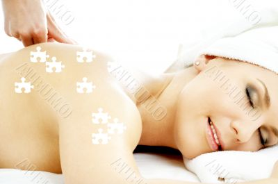 puzzle of massage pleasure