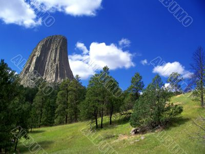 Devil`s Tower Wyoming