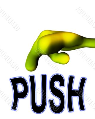 Alien Hand Pushing