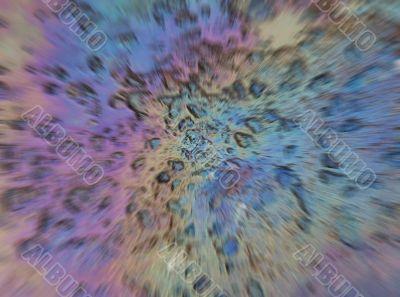 Iridescent explosion.