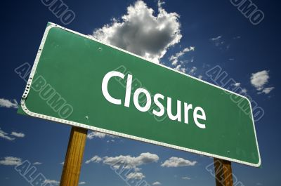 Closure Road Sign