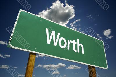 Worth Road Sign
