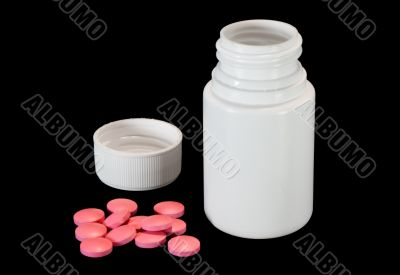 bottle and pills