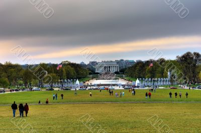 Lincoln Memorial at the evening