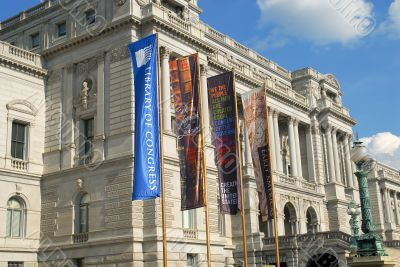 Colorful Banners in Breeze at Library of Congress