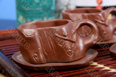 clay cups for tea