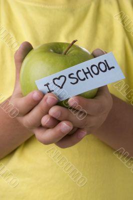 Kid that loves school