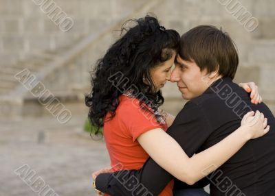 happy attractive couple