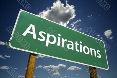 Aspirations Road Sign