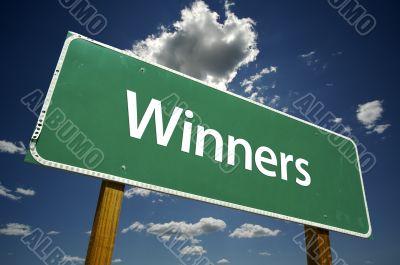 Winners Road Sign