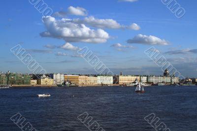 Neva and Saint Petersburg view