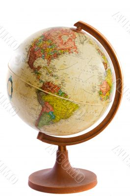 Ball in the world of plastic and wood