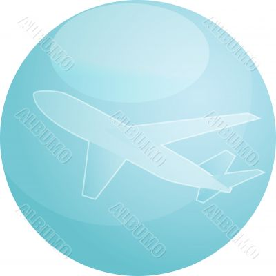 Air travel airplane illustration