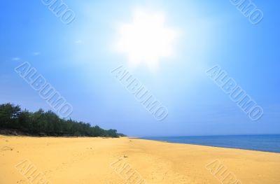 empty summer beach