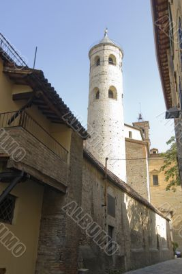 Circular tower in Italy