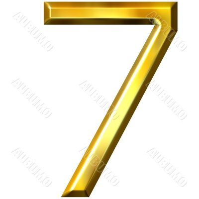 3d golden number 7