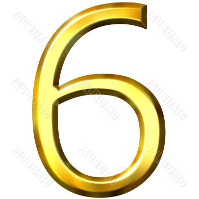 3d golden number 6