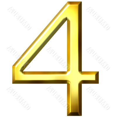 3d golden number 4