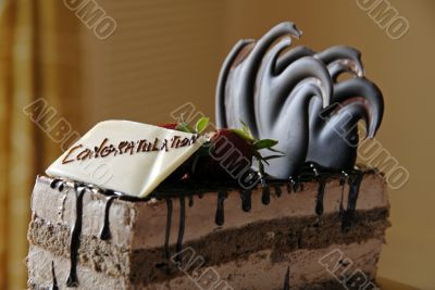 Chocolate Pastry Greeting Congratulations