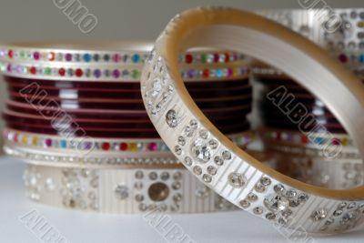 Colorful Bridal Ornament Bangles