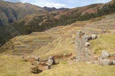 Inca castle ruins in Chinchero