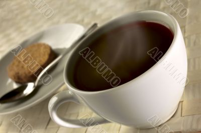 black coffee for breakfast close up