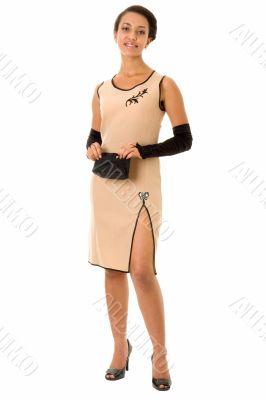 woman in little dress