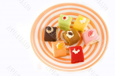Fancy cakes in different tastes