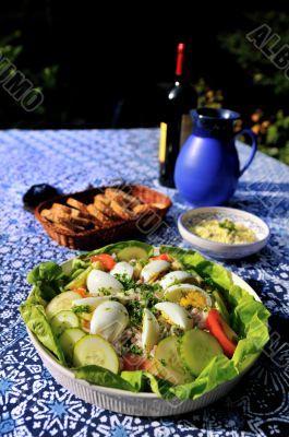 tasty salad outdoor