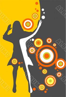 girl and circles