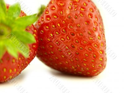 Strawberry very close and fruits details