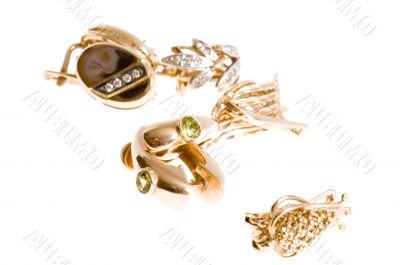 Gold ear rings
