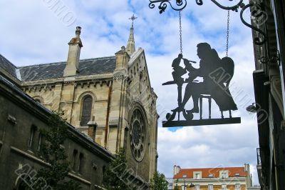 Shadowgraph of painter in Paris