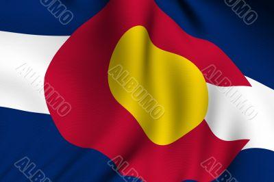 Rendered Colorado Flag