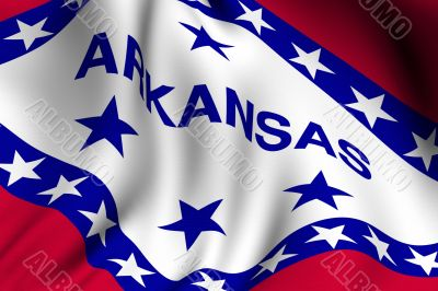 Rendered Arkansas Flag