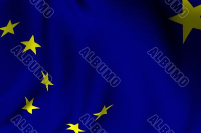 Rendered Alaska Flag