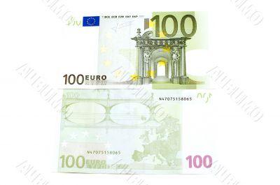 Euro on white background