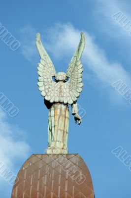 Back of an angel statue