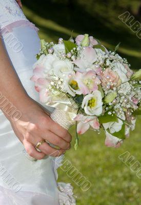 Bunch of flowers of bride