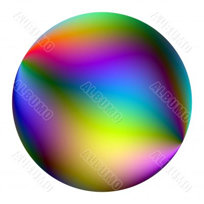 Colored ball.